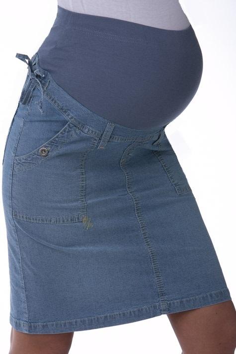 Sukně pro těhotné riflová