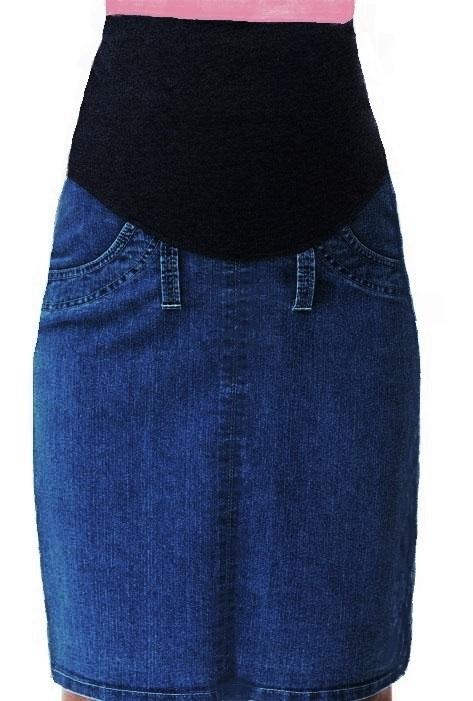 Těhotenská sukně riflová