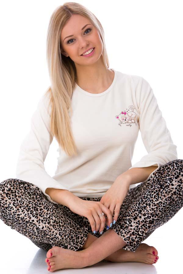 Dámské  pyžamo sametové