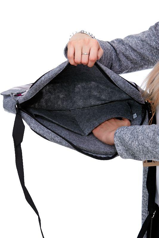 Kabelka Felt Bag - Cat