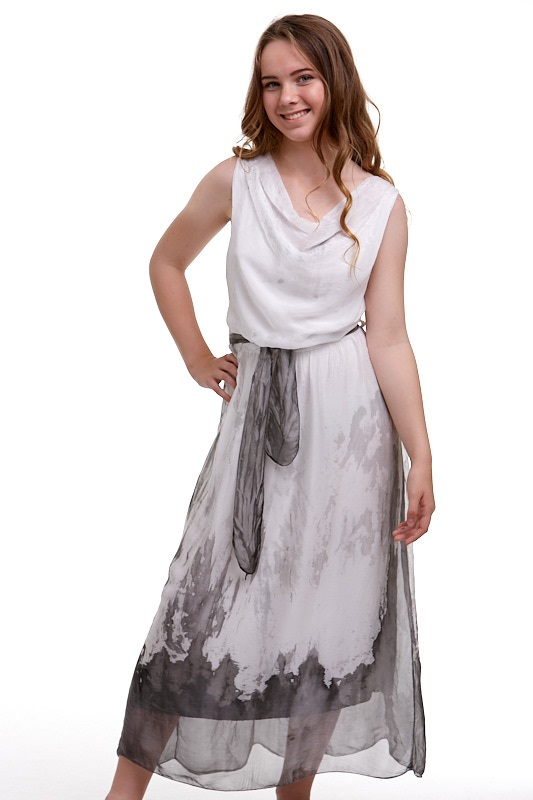 Šaty hedvábné Italy