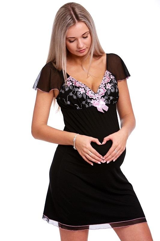 Těhotenská a kojící košilka luxusní