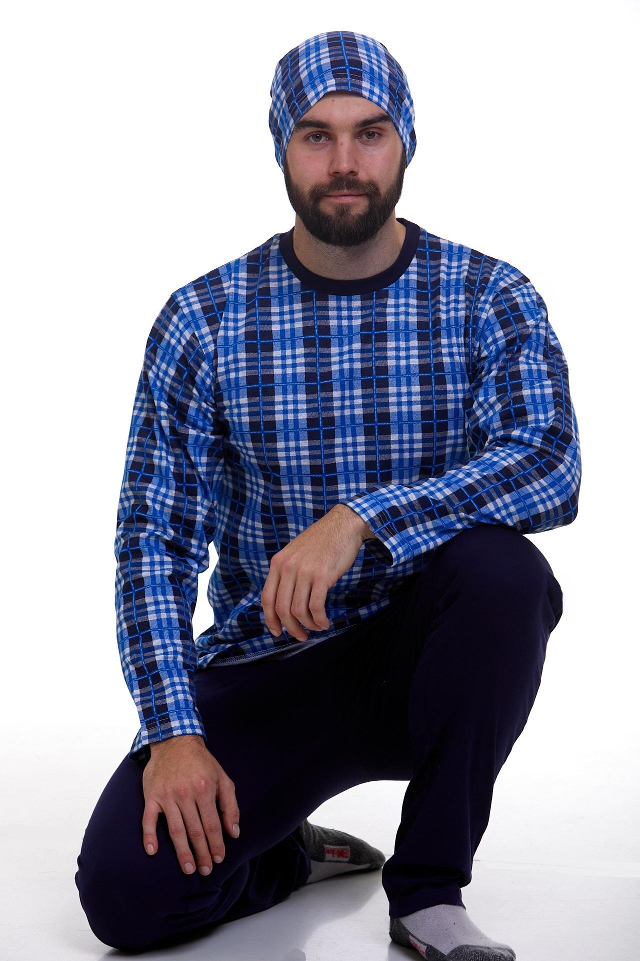 Pyžamo pro muže s čepičkou