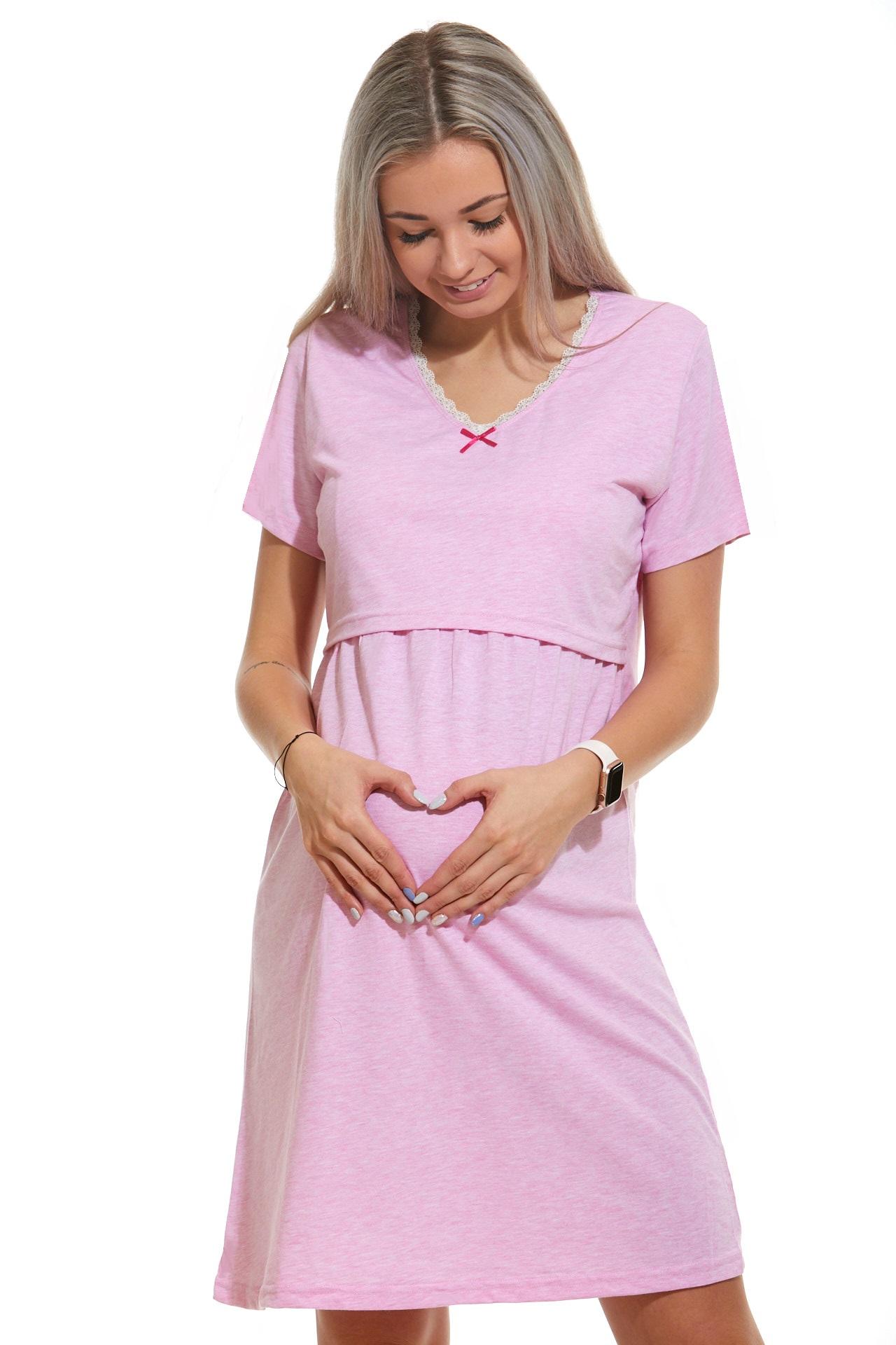 Diskrétní kojící košilka do porodnice