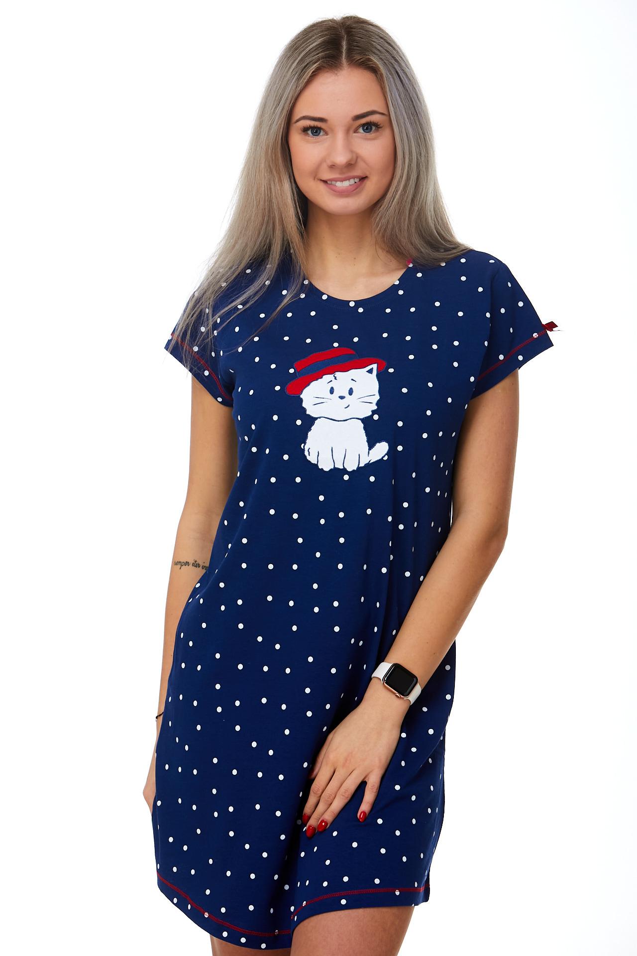 Noční košilka dámská s kočičkou