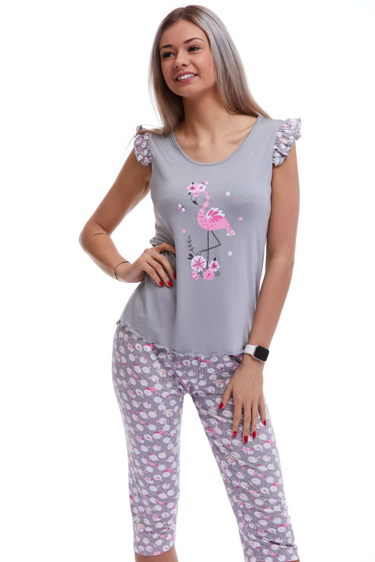 Dámské pyžamo luxusní Plameňák