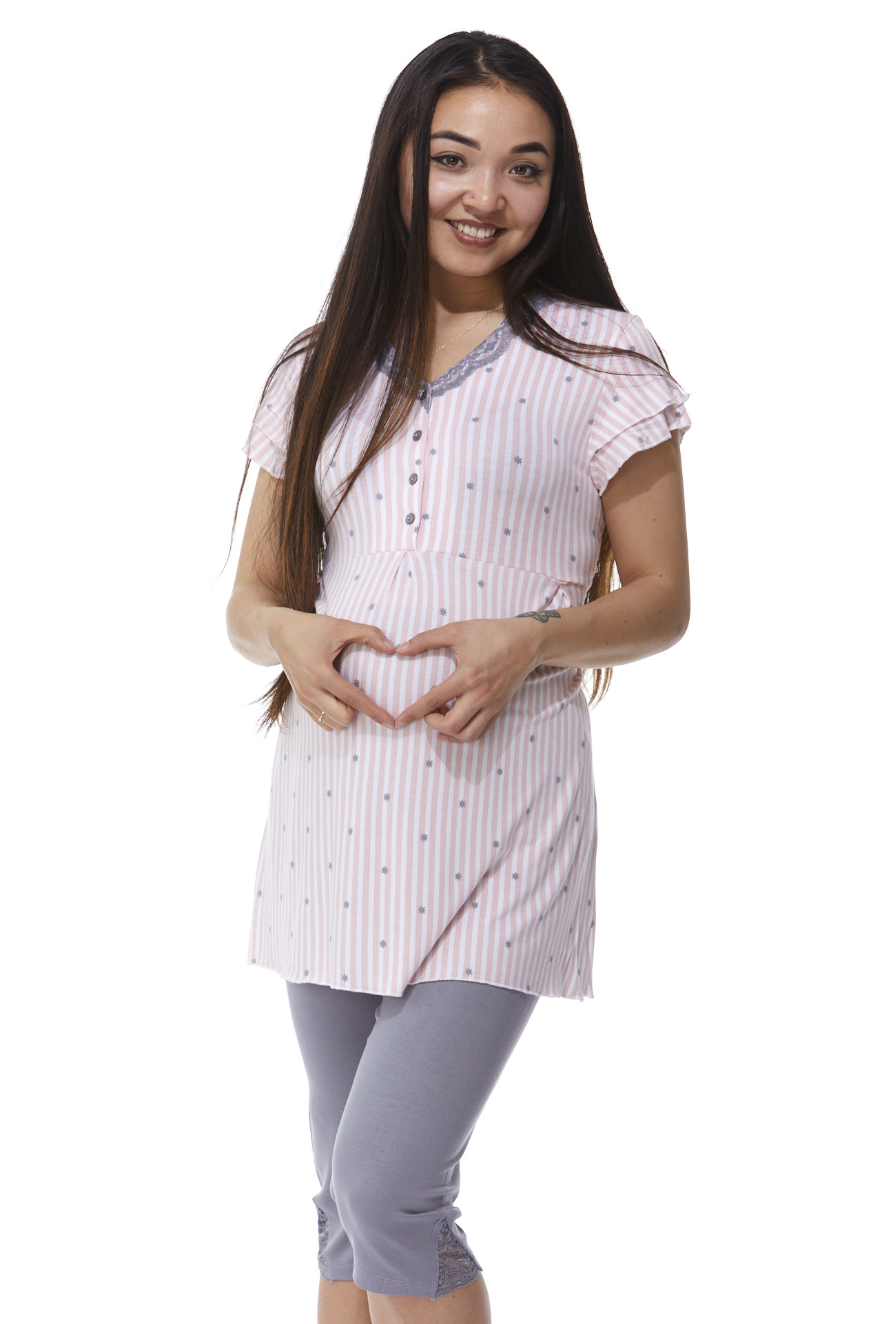 Luxusní těhotenské a kojící pyžamo