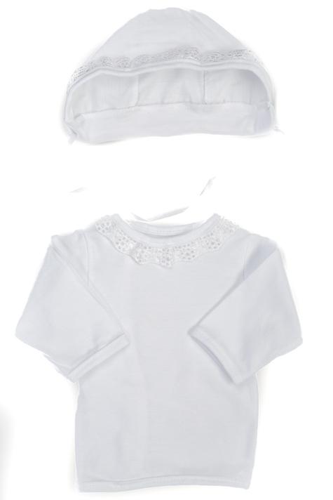 Košilka novorozenecká s čepičkou