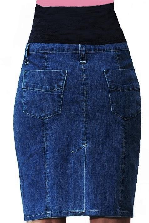Těhotenská sukně riflová 1S1023