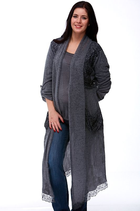 Těhotenský Kardigan s trikem Made in Italy