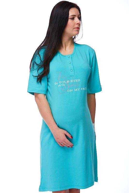 Těhotenská i kojící košilka Flor 1C0114