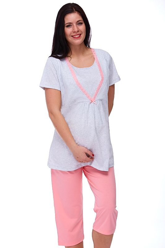 Mateřské pyžamo na kojení Esstela