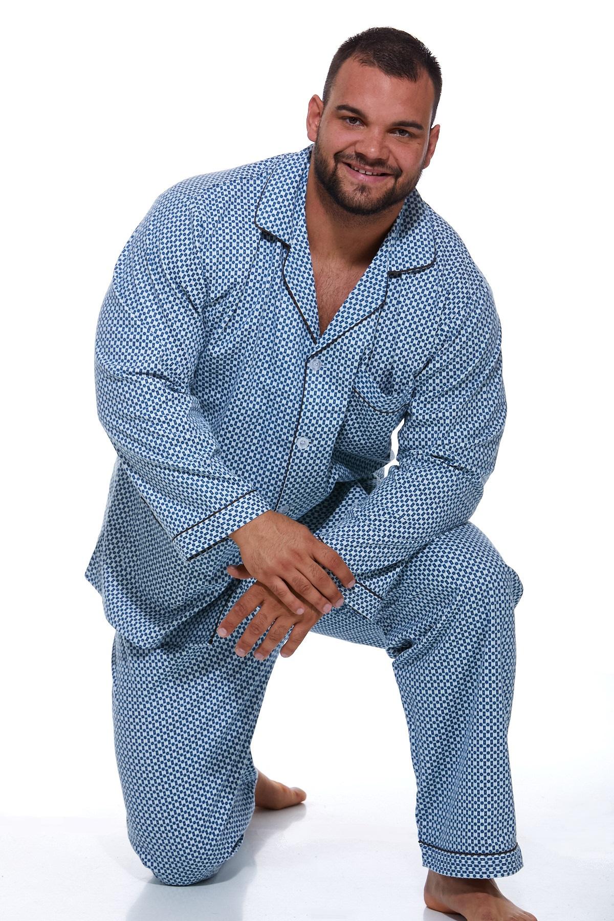 Pánské pyžamo, flanel PAPM130