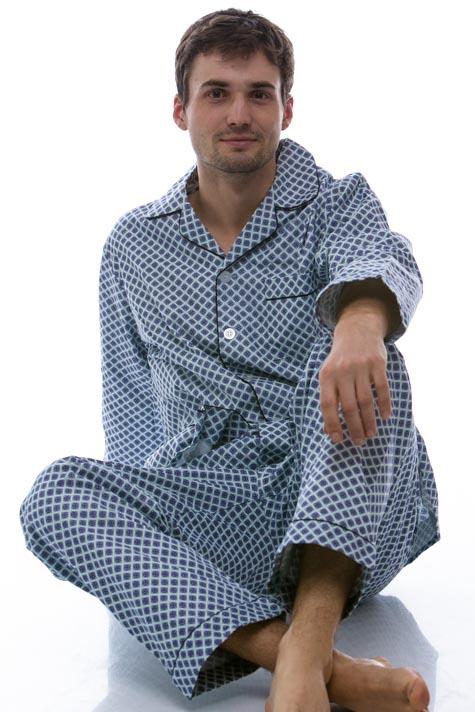 Pánské pyžamo, flanel 1P0438