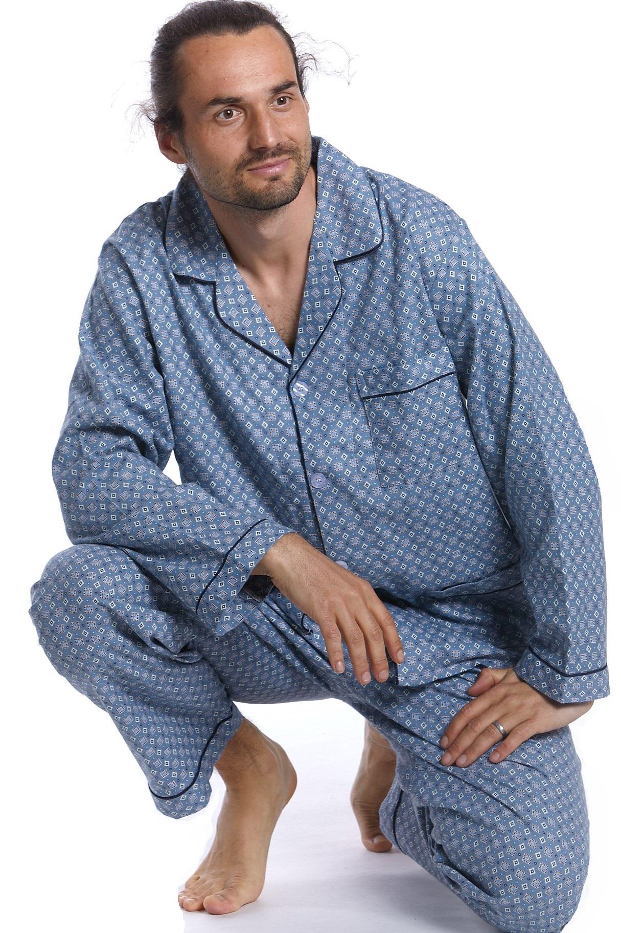 Pánské pyžamo, flanel PAPM013