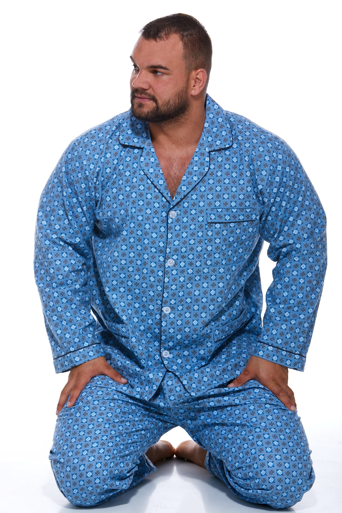 Pyžamo pro muže, flanel PAPM126