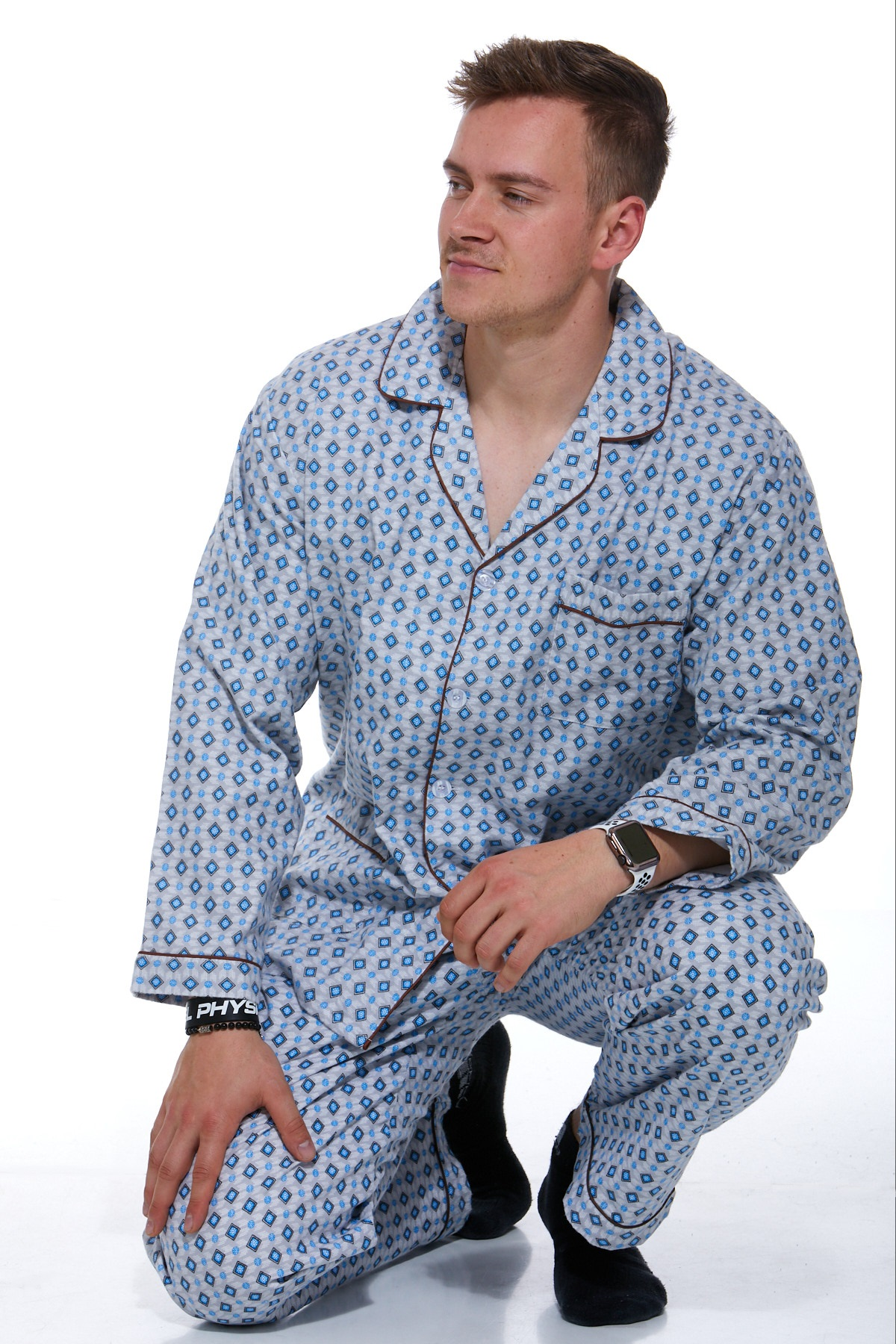 Pánské pyžamo, flanel 1P0451