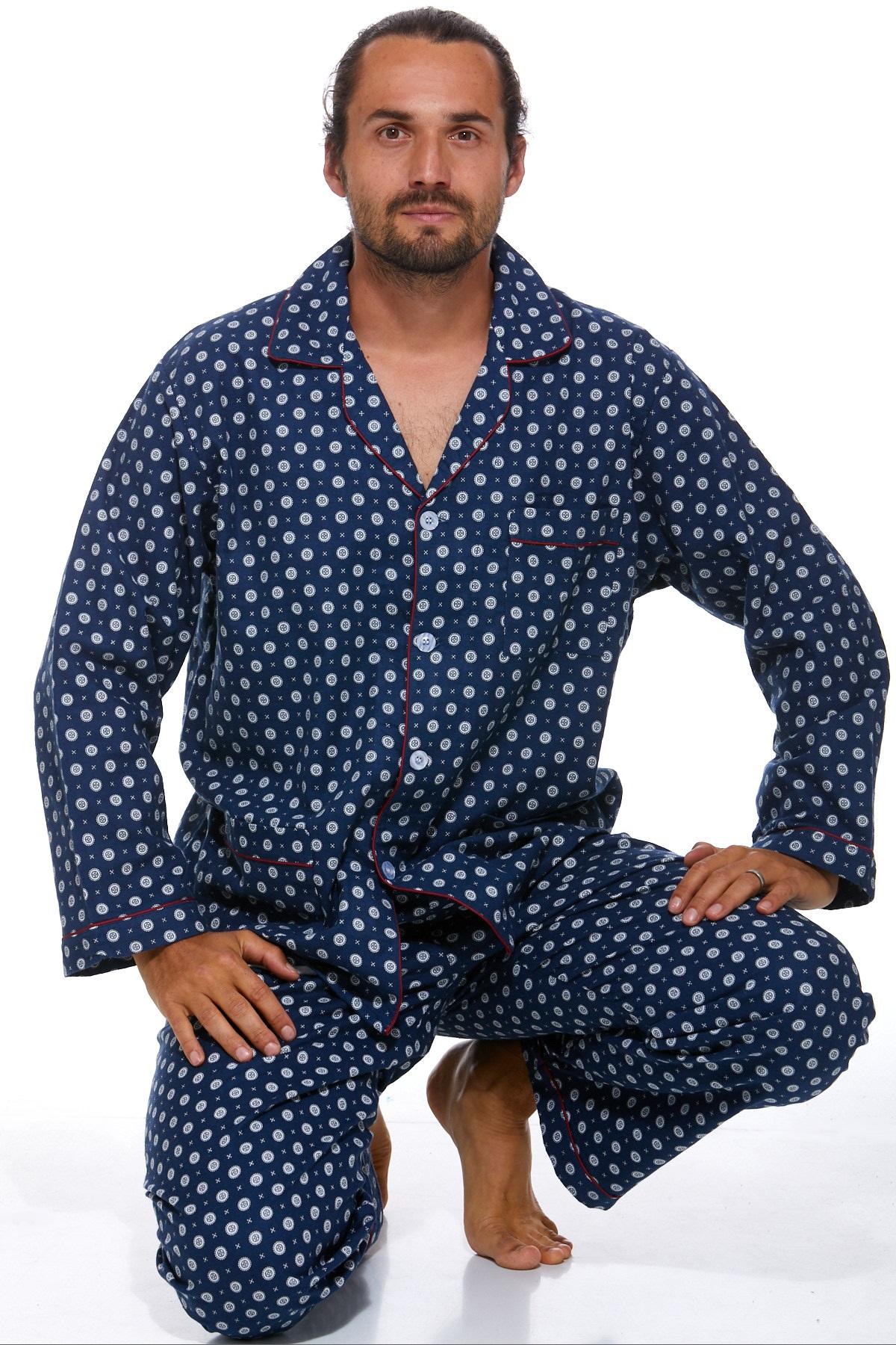 Pánské pyžamo, flanel PAPM445