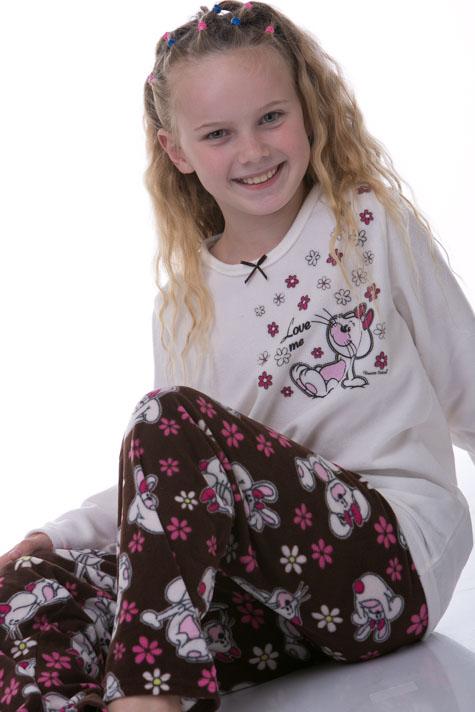 Pyžamo dívčí teplé 1F0277