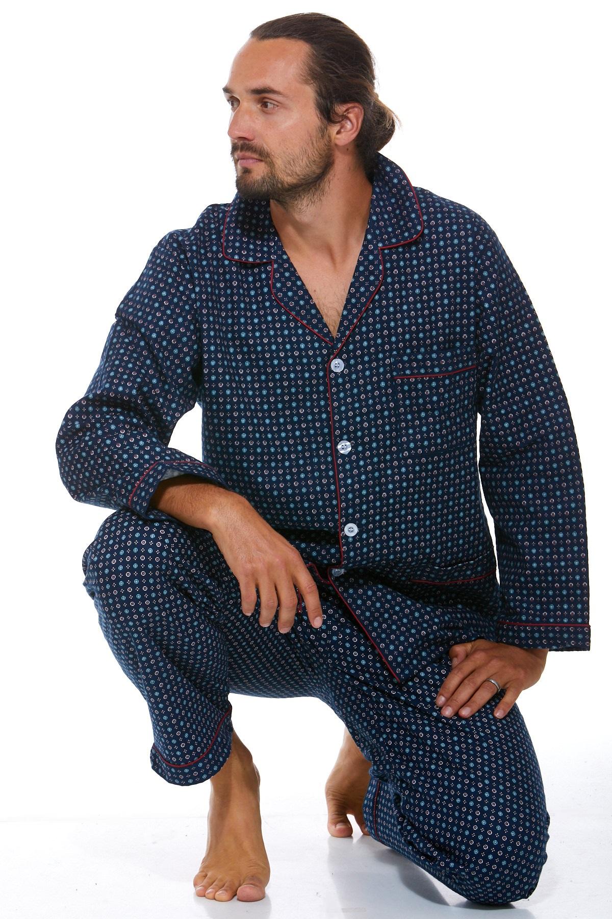 Pánské pyžamo, flanel 1P0453