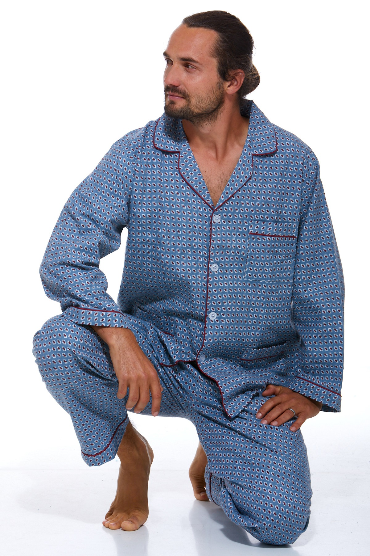 Pánské pyžamo, flanel 1P0452