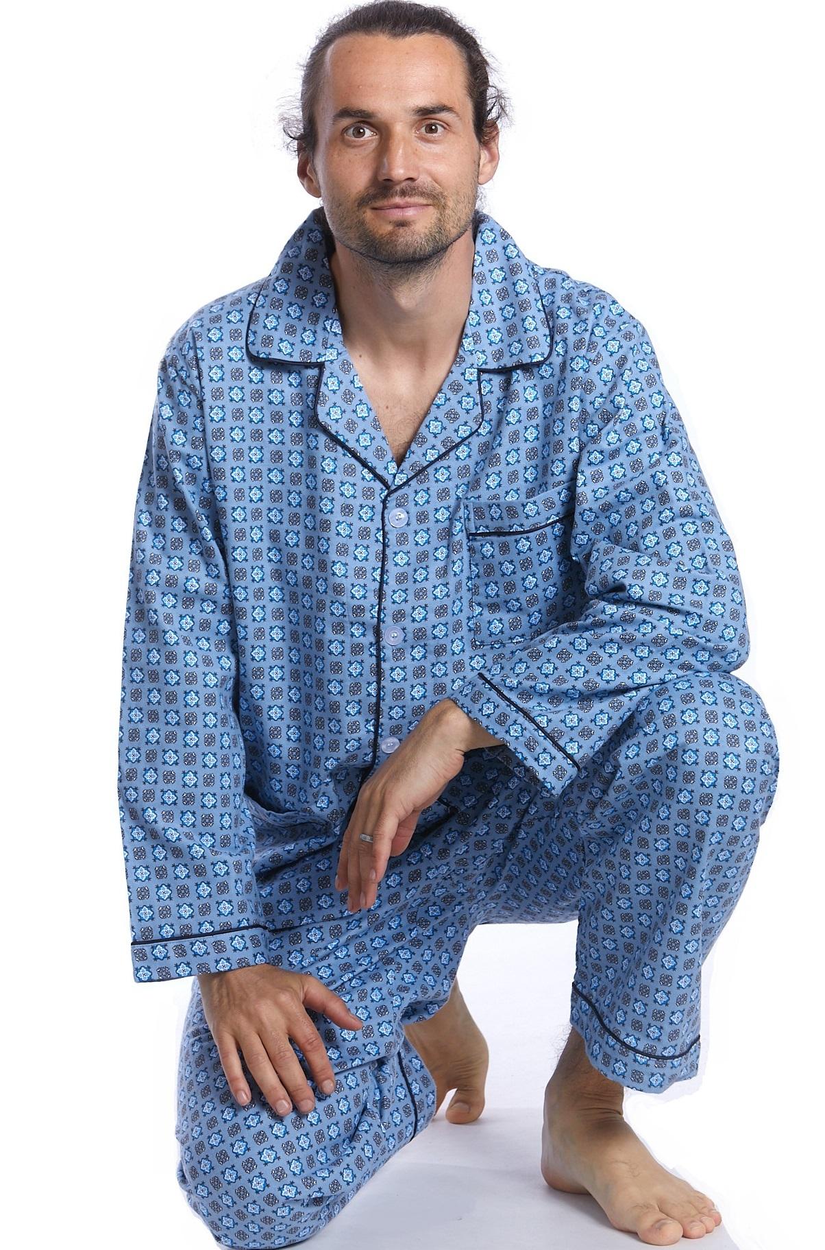 Pánské pyžamo, flanel 1P0259
