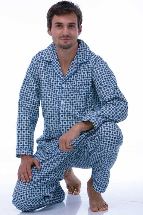 Pyžamo teplé pro muže 1P0431