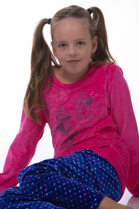 Pyžamo dívčí teplé 1F0278