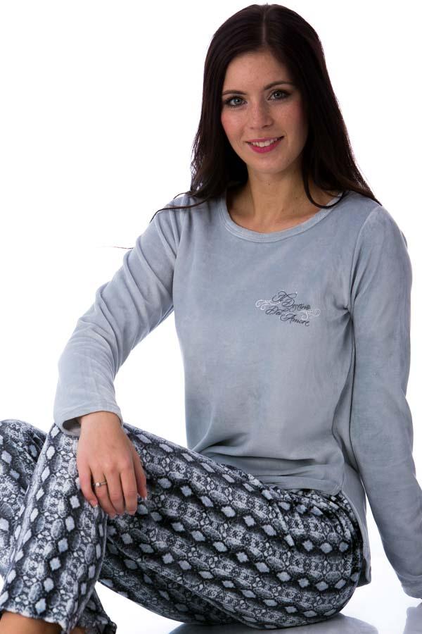 Dámské pyžamo sametové 1B0503