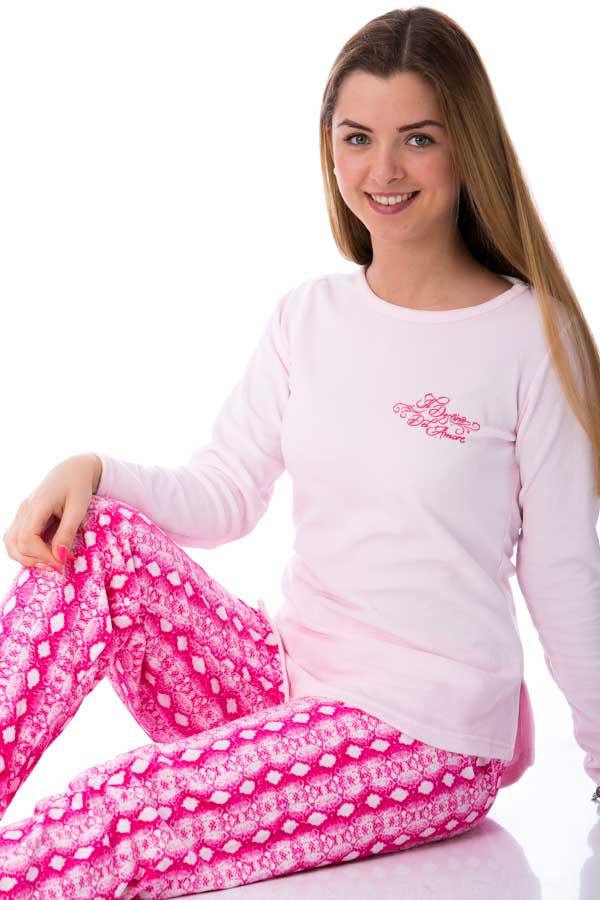 Dámské  pyžamo sametové 1B0501