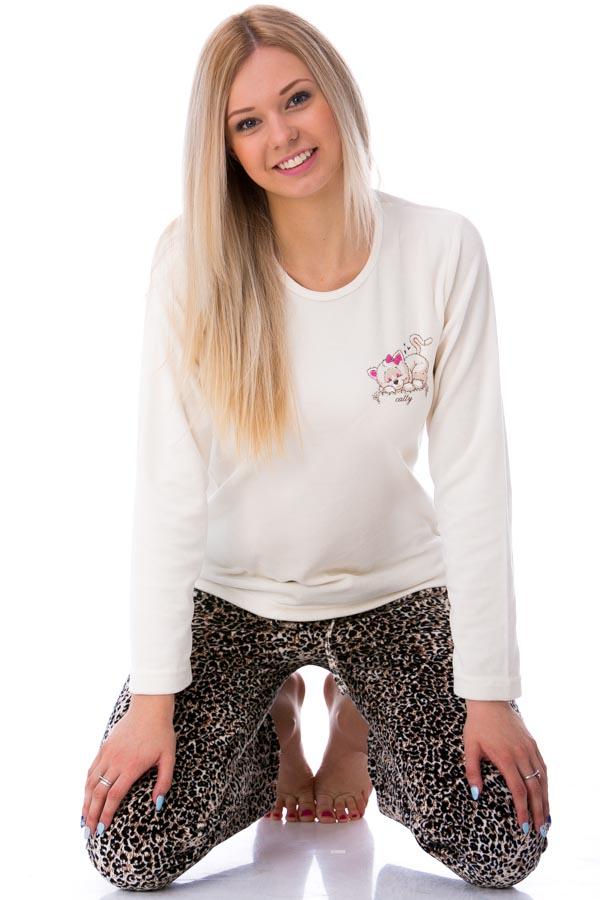 Dámské  pyžamo sametové 1B0498