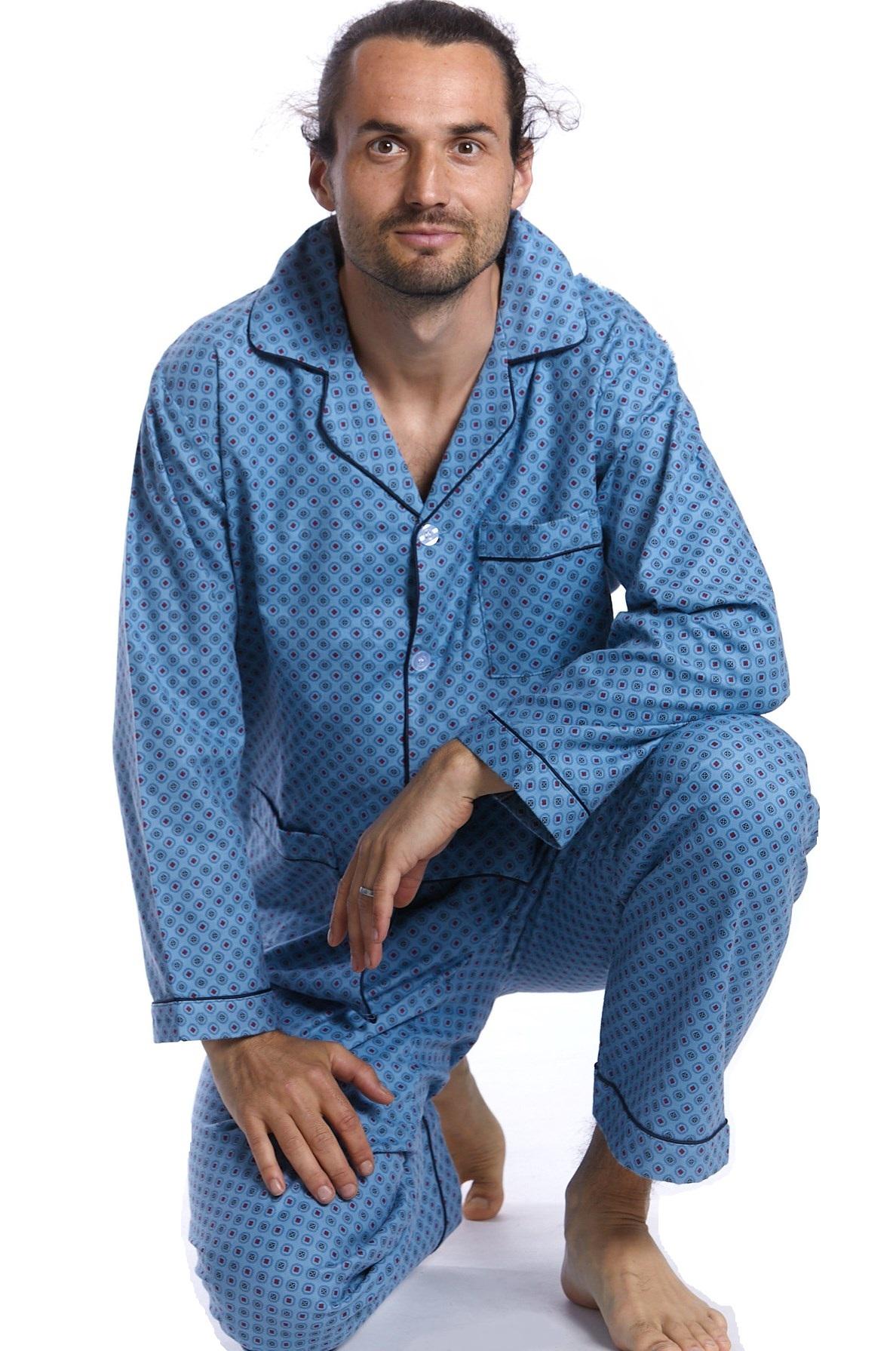 Pánské pyžamo flanel 1P0612