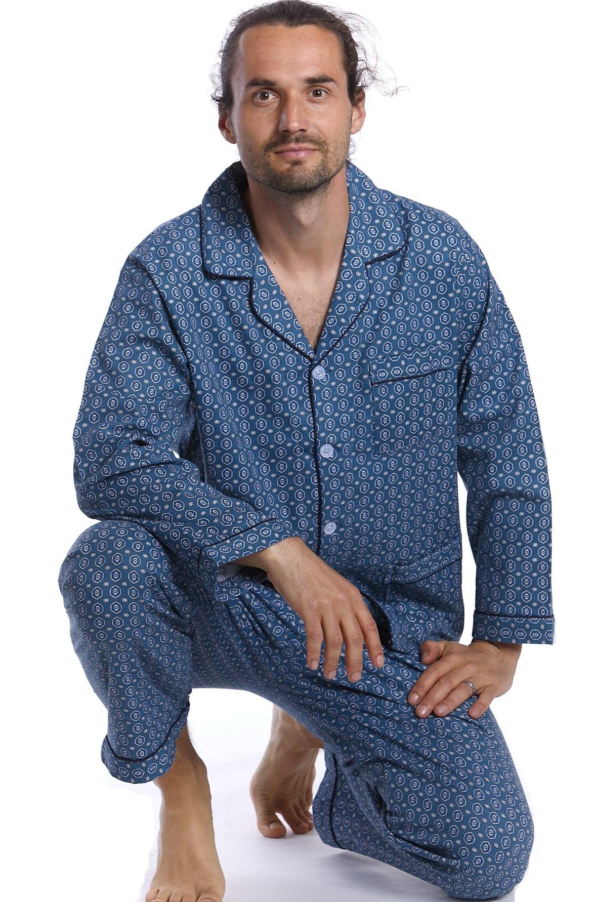 Pánské pyžamo flanel 1P0611