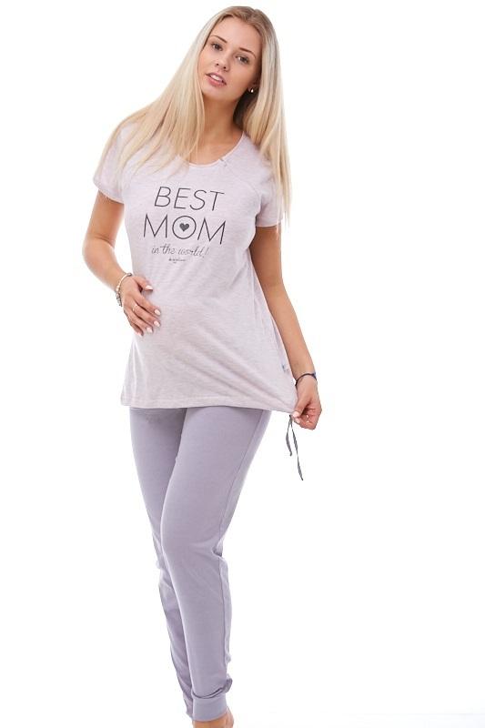 Těhotenské i kojící pyžamo