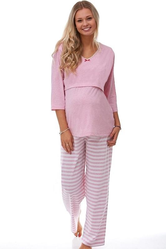 Mateřské pyžamo na kojení 1B0644