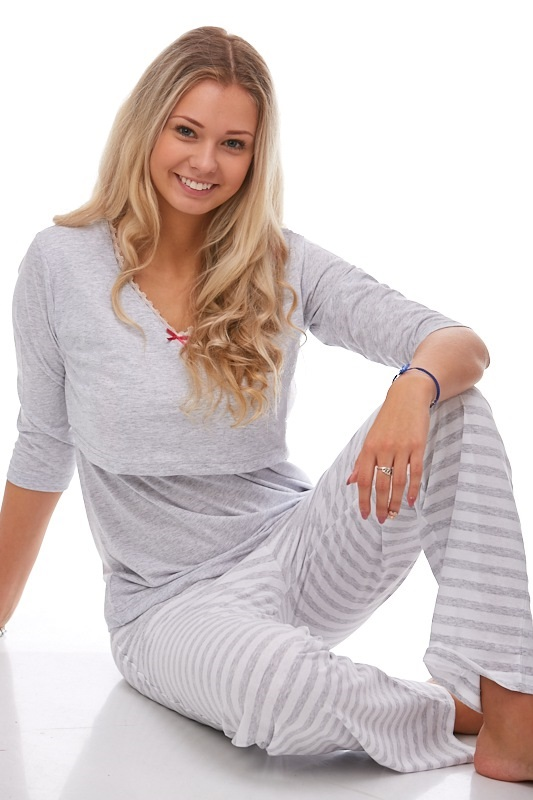 Mateřské pyžamo na kojení 1B0642