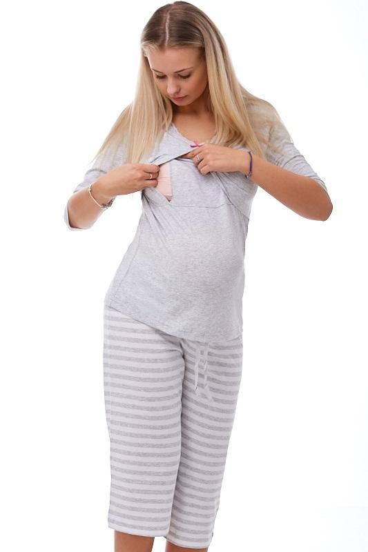 Mateřské pyžamo na kojení