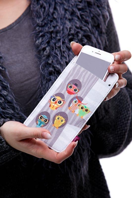 Pouzdro na mobil - Sovy 1Q0059