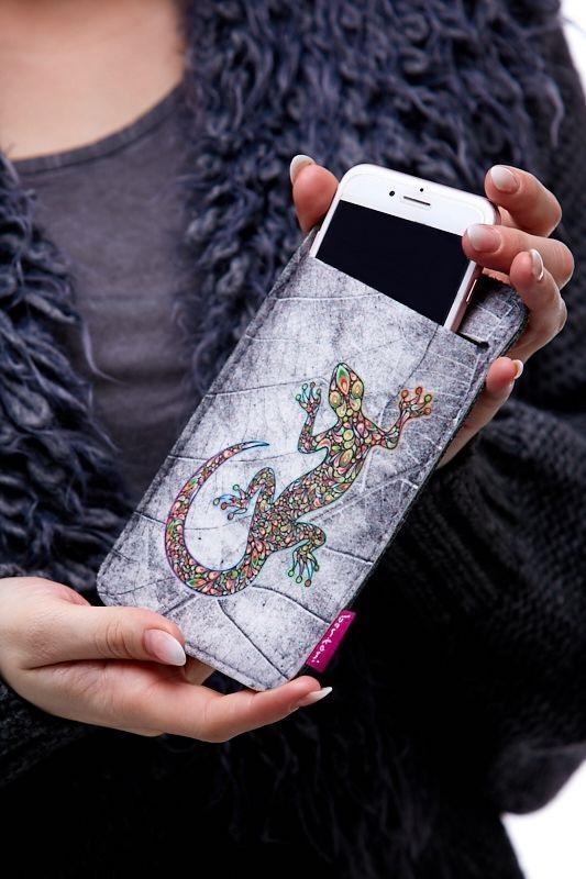 Pouzdro na mobil - Ještěrka 1Q0054