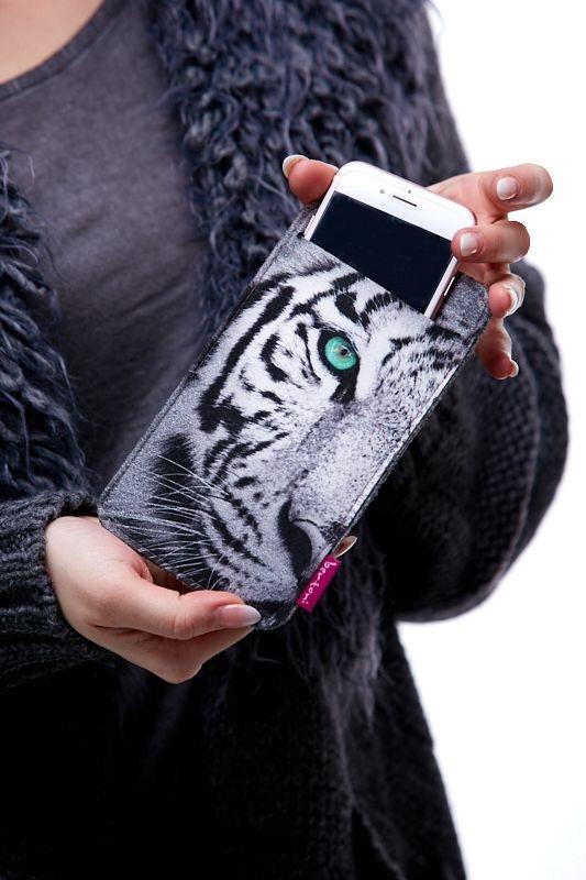 Pouzdro na mobil - Bílý tygr 1Q0043