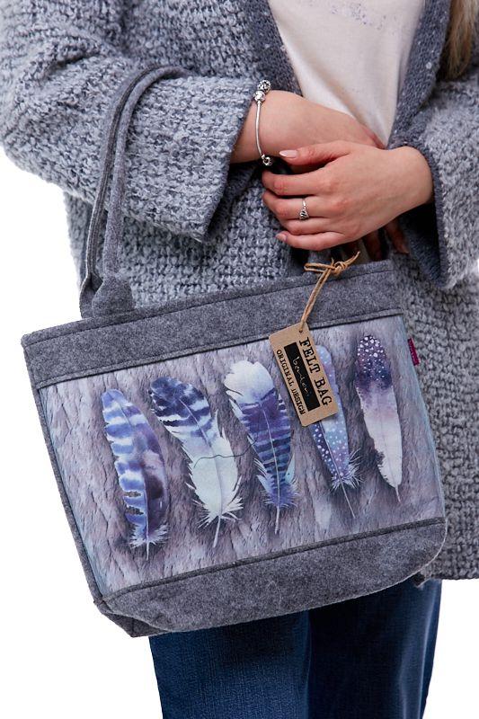 Kabelka Felt Bag - Feather 1KA0007