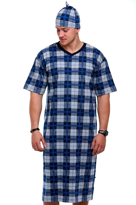 Pánské noční košile s čepicí 1P0672