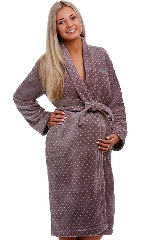 Těhotenský župan huňatý 1W0141