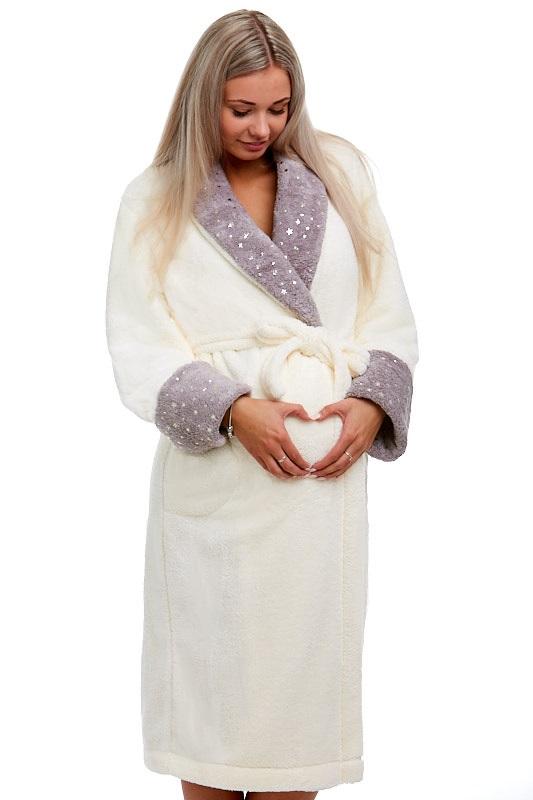 Těhotenský župan huňatý 1W0139