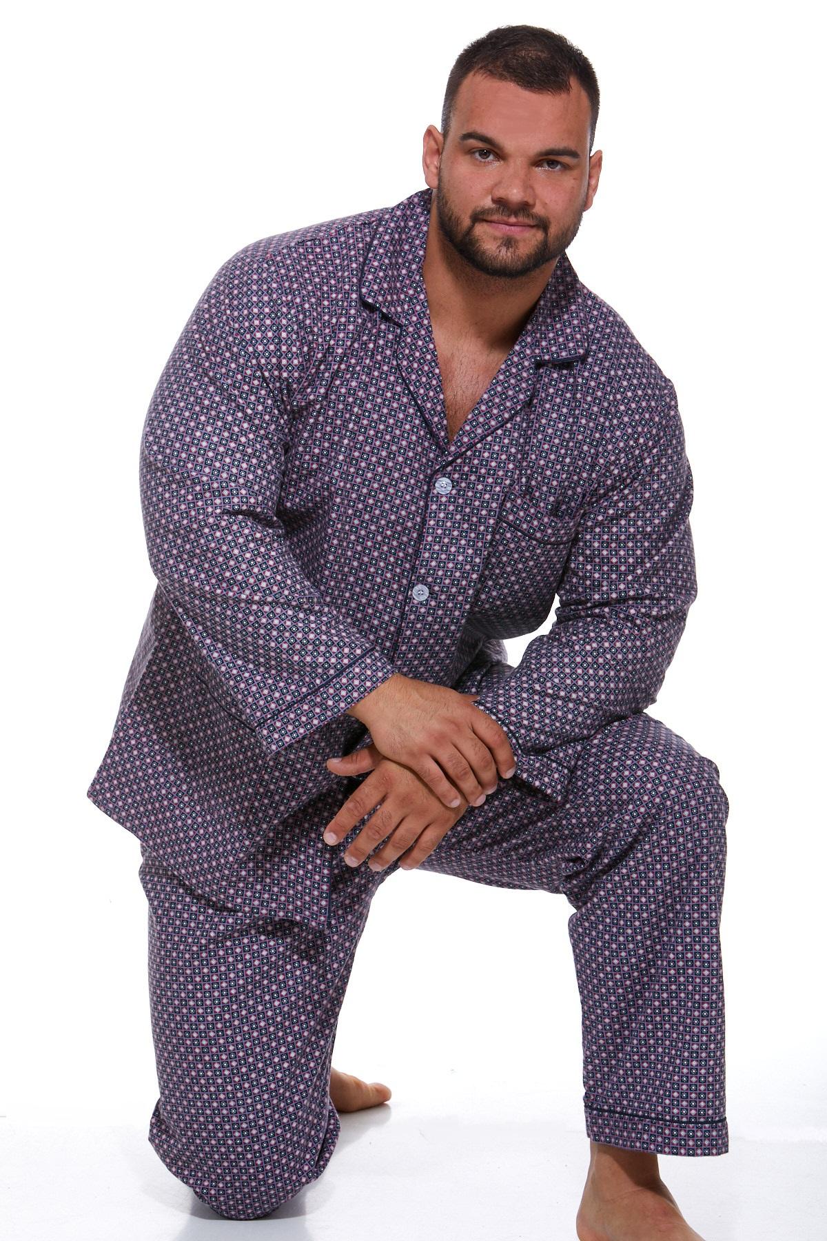 Pánské pyžamo flanel 1P0674
