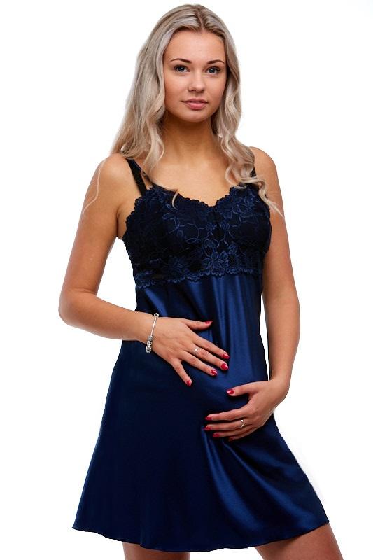 Kojící i těhotenská košilka ze saténu 1E8177