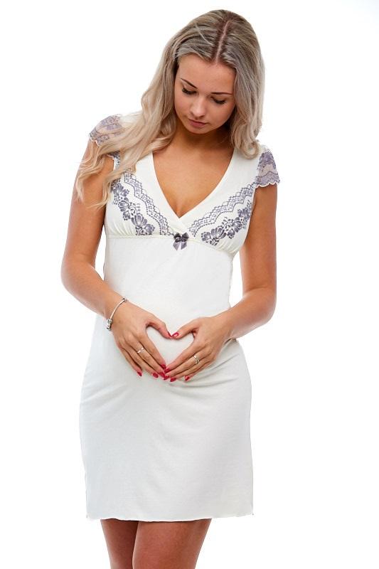 Těhotenská a kojící košilka luxusní 1E8179