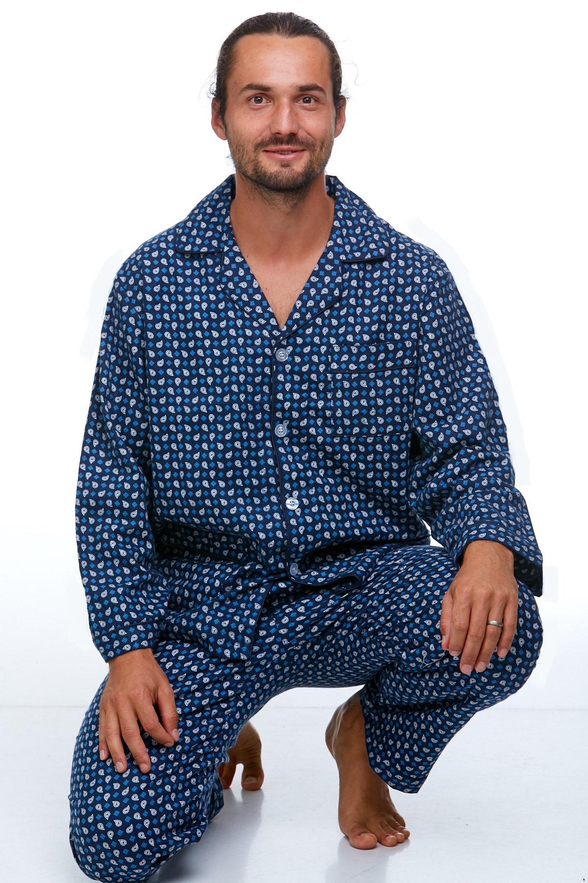 Pánské pyžamo teplé 1P0719