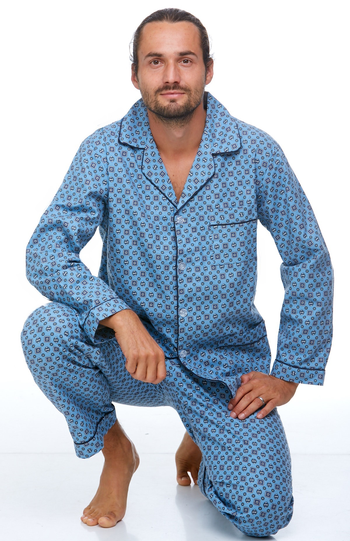 Pánské pyžamo teplé 1P0716