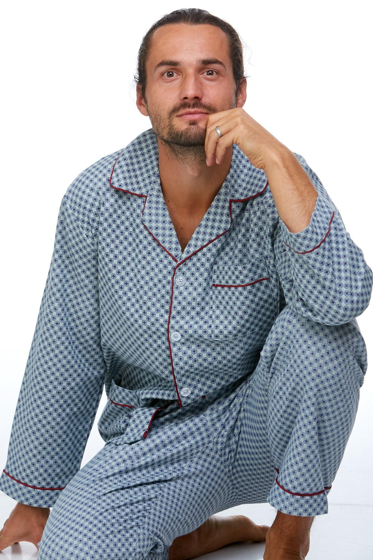 Pánské pyžamo teplé 1P0715
